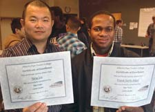 Yang Lui and Frank Adjei